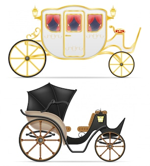 Carro para el transporte de personas ilustración vectorial