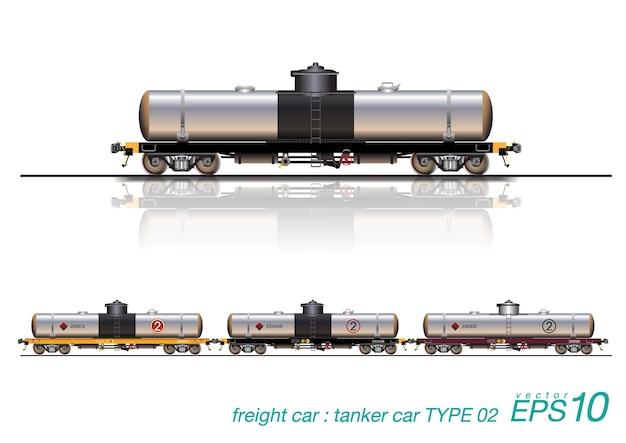 Carro de tren del tanque de aceite