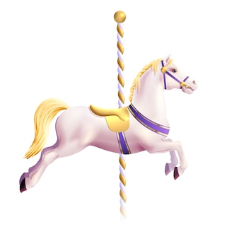 Carrusel caballo realista