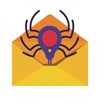 Carta abierta iconos aislados