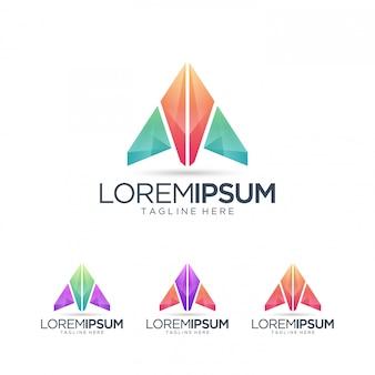 Carta abstracta plantilla de logotipo