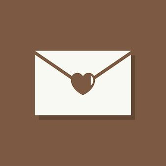 Carta de amor icono de día de san valentín