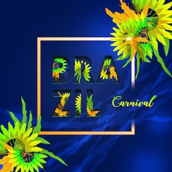 Carta de celebración de carnaval de brasil