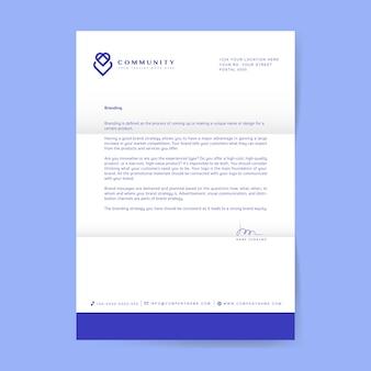 Carta comercial con logo.