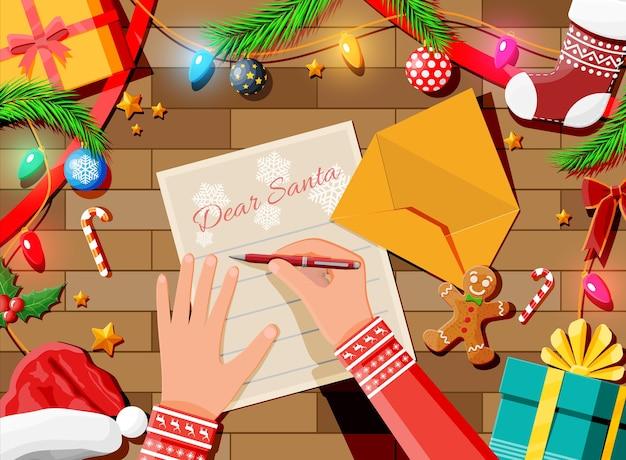 Carta con deseos a santa claus