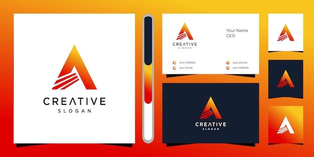 Carta de un logotipo y tarjeta de visita.