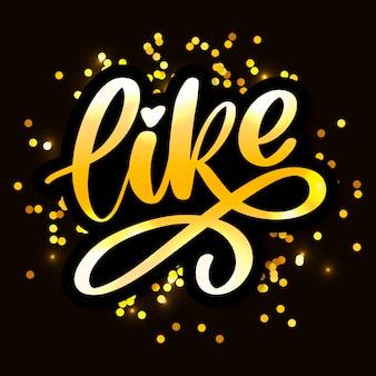 Carta de moda, ideal para cualquier propósito. dibujado a mano como letra para diseño decorativo. signo de letras de amor lema de ilustración dibujada a mano
