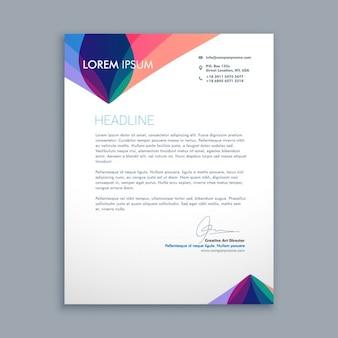 Carta de negocio creativa