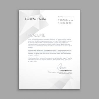 Carta de negocio con polígonos grises