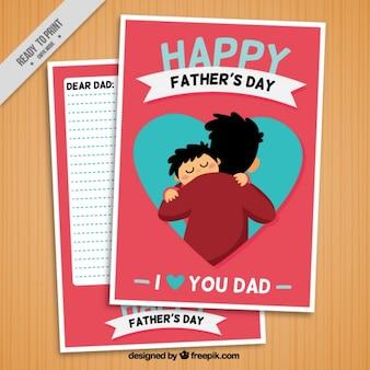 Carta con un padre con su hijo dormilón