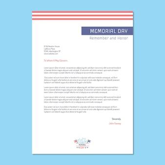 Carta de presentación general moderna del día conmemorativo simple