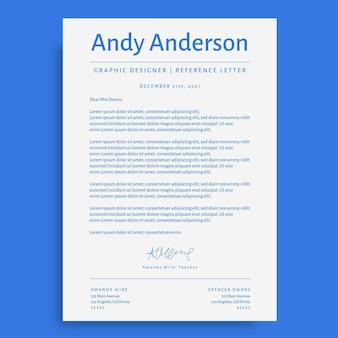Carta de referencia de diseño gráfico simple