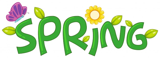 Una carta de texto de primavera