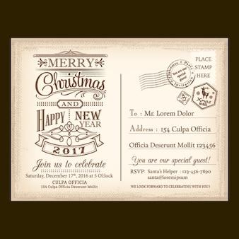 Una carta vintage para santa claus