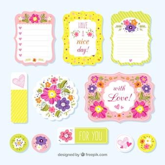 Cartas de amor coloridas en acuarela