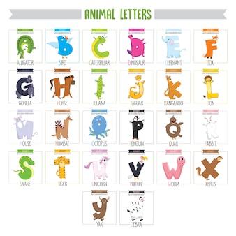Cartas de animales ilustrados