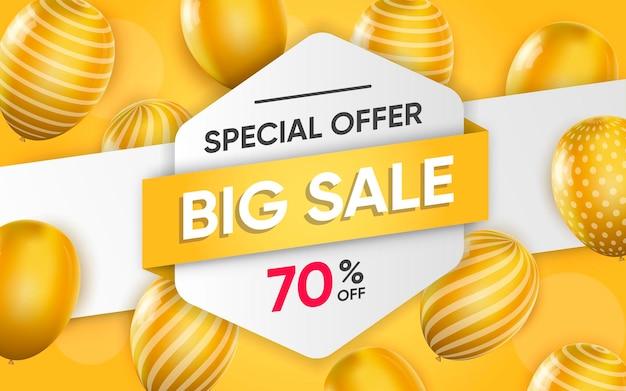 Cartel 3d de gran venta ilustración de publicidad.