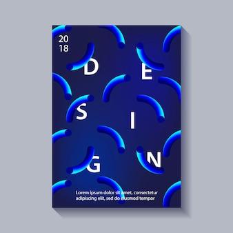 Cartel de abstracción de estilo moderno de moda.