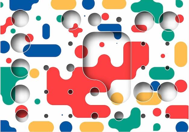 Cartel abstracto del arte del círculo de semitono de la bandera con el espacio de su texto, diseño de la ilustración del vector.