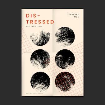 Cartel abstracto diseño angustiado