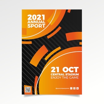 Cartel abstracto del evento deportivo 2021