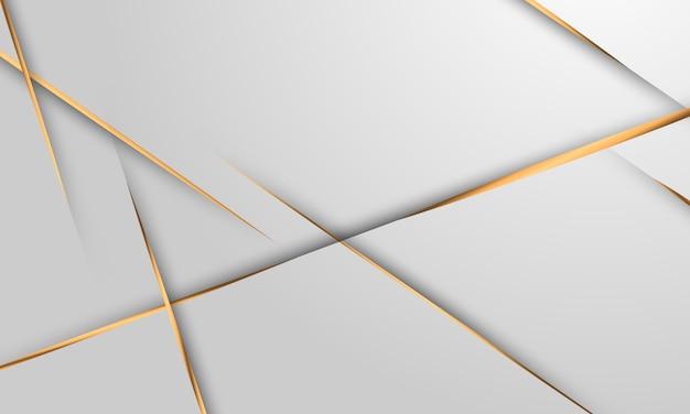Cartel abstracto fondo gris y oro con ondas dinámicas. ilustración de red de tecnología.