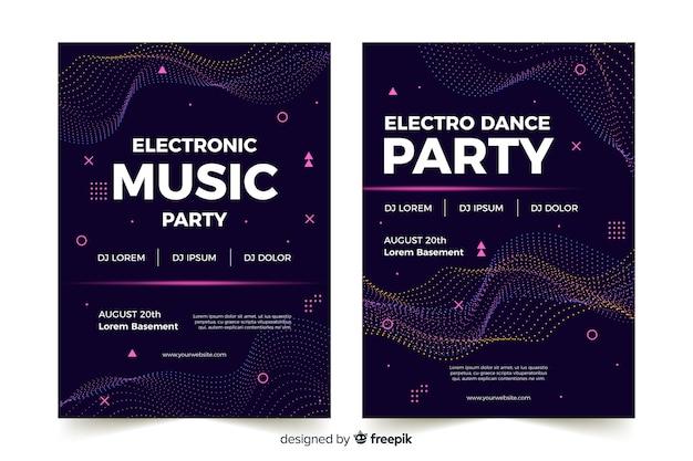 Cartel abstracto de música electrónica