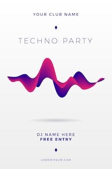 Cartel abstracto del partido