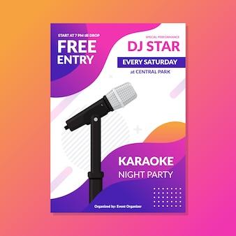 Cartel abstracto plantilla karaoke