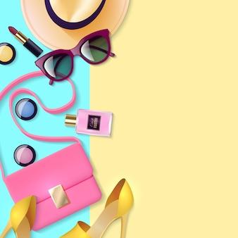 Cartel de accesorios de mujer