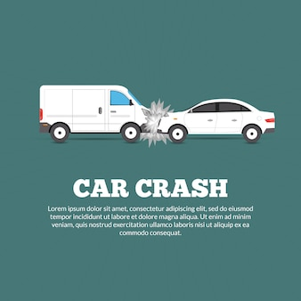 Cartel de accidente automovilístico