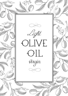 Cartel de aceite de oliva ligero abstracto