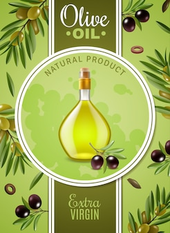 Cartel de aceite de oliva virgen extra