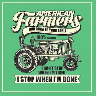 Cartel agricultor americano