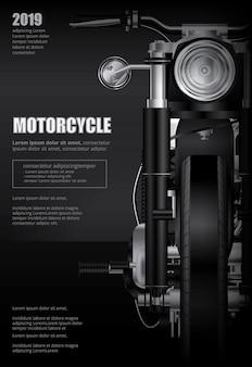 Cartel aislado motocicleta chopper ilustración vectorial