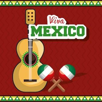 Cartel aislado musical del instrumento mexico en vivo