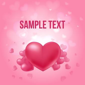 Cartel amoroso del día de san valentín