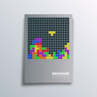 Cartel antiguo diseño de videojuegos.
