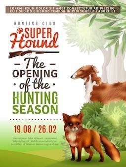 Cartel de apertura de la temporada de caza