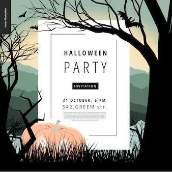 Cartel de aviso de fiesta de halloween