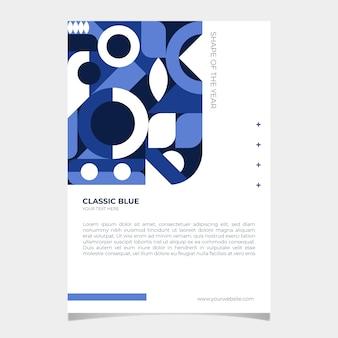 Cartel azul clásico abstracto