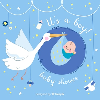 Cartel de baby shower