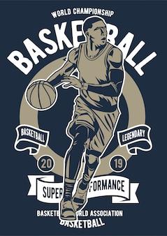 Cartel de baloncesto