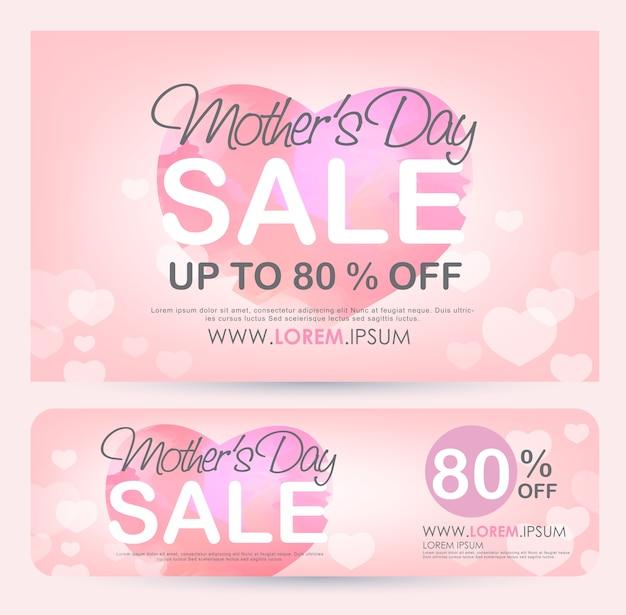 Cartel de banner de venta del día de la madre.