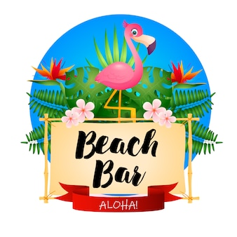 Cartel del bar de playa