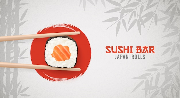 Cartel de bar de sushi