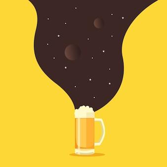 Cartel de bebida de cerveza soñadora
