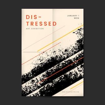 Cartel beige texturizado apenado negro grunge