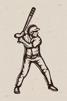 Cartel de béisbol vintage
