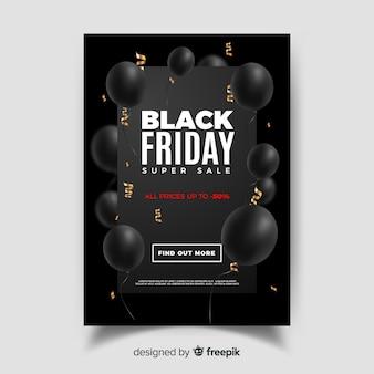 Cartel de black friday